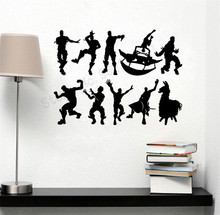 Pattern Man Different postures Office Wall Sticker Games Room Decoration Boys Teen Livingroom Poster Ornament LY1205