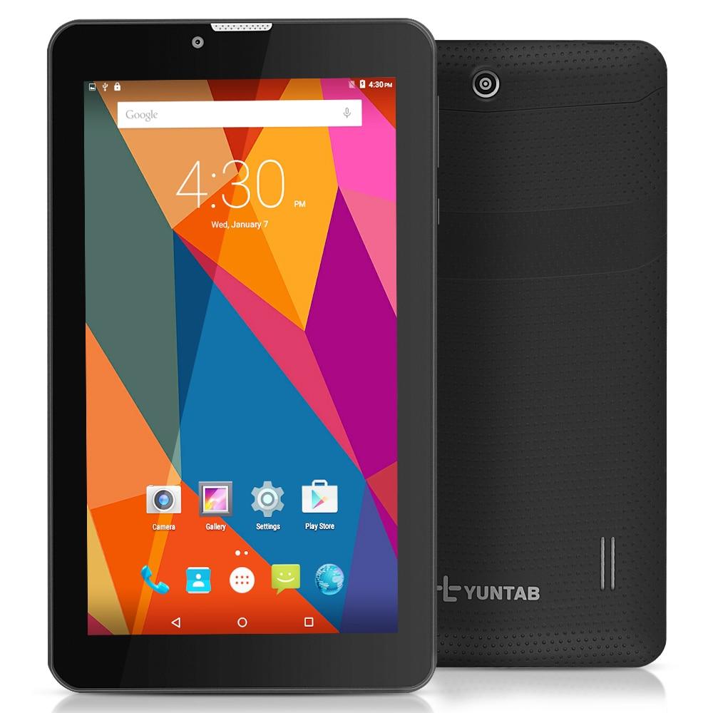 7 E706 Yuntab Black Color GPS Double Mini SIM Card 1.2GHz Quad Core Cortex A7 IPS Dual Camera 1GB+8GB Phone Call Tablet PC