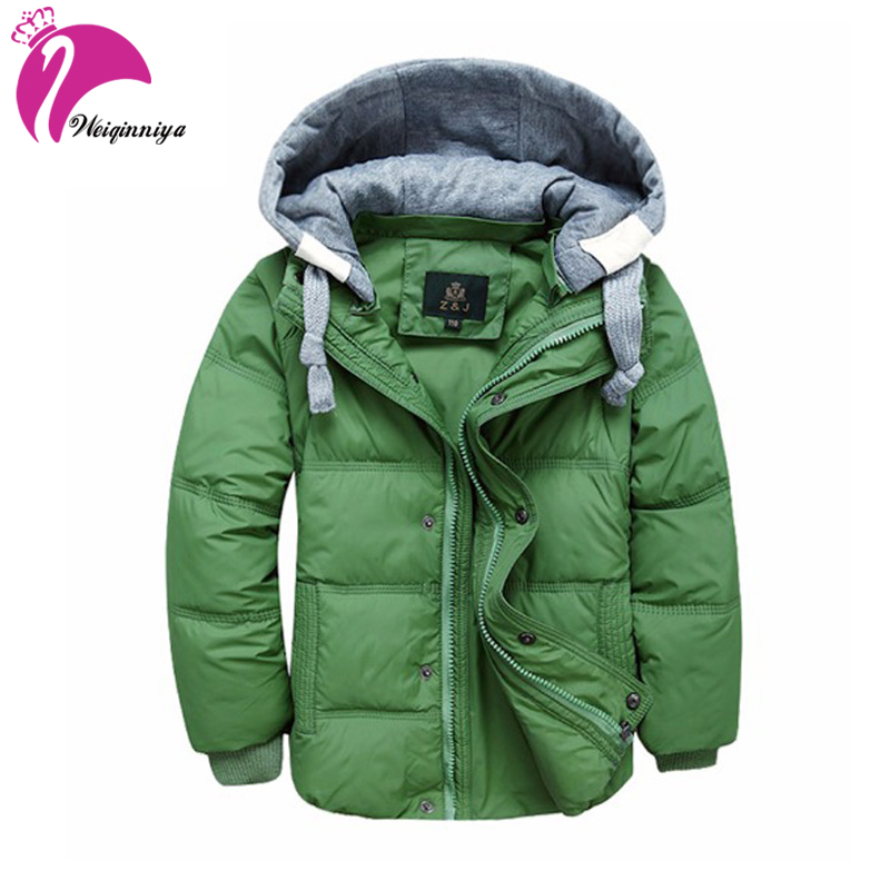 Children Boys Down Coat New Winter 2017 Brand Fashion Hooded Long-sleeves Kids Clothes Casual Thick Parka Warm Jacket Outwears brand fashion new 2016 winter children down