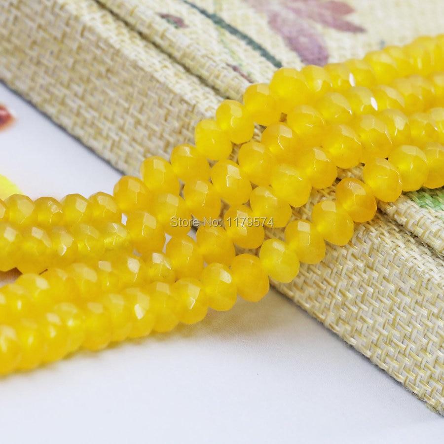 4*6 мм Интимные аксессуары ремесла желтый граненый Джаспер Для женщин установки Обувь для девочек Подарки jade камни свободные Бусины ювелирн...