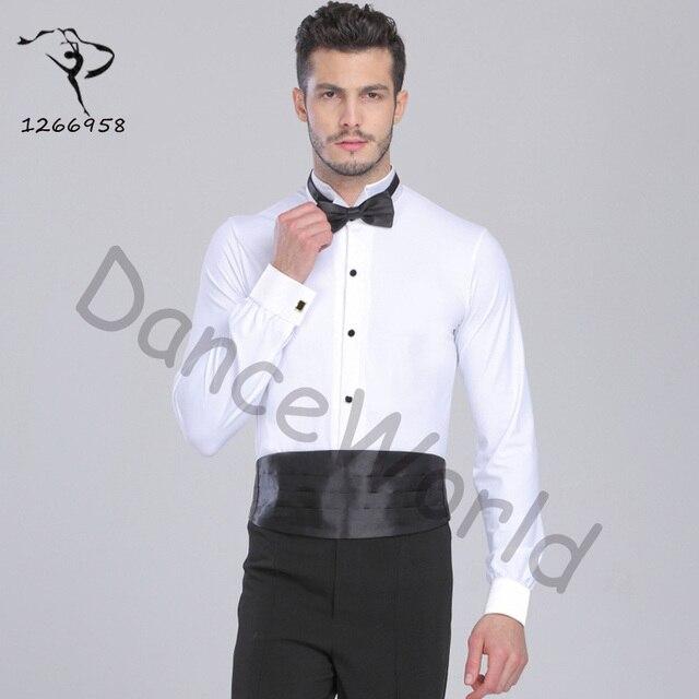 5e4a2646612ab Sexy de baile de salón hombre bailar Tops para hombre Camisas Latina  tango rumba