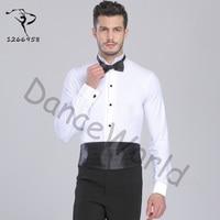 sexy Ballroom Dancing Ballroom Dancing Man Dance Tops Mens bodysuit Shirts Latin/tango/rumba Dancewear Shirt Top Dq6032