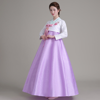 2016 Winter Hot Korean Traditional Dress Stage Show Hanbok Costume Traditional Court Dress Hanbok Korean Traditional
