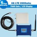 Lintratek 4G LTE Display LCD Móvel Signal Booster 70dB Ganho 4G LTE 2600 mhz Celular Amplificador Repetidor Repetidor + 4G Antena