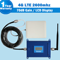 Lintratek 4G LTE Mobile Signal Booster LCD Display 70dB Gain 4G LTE 2600mhz Cell Phone Amplifier Repeater Repetidor +4G Antenna