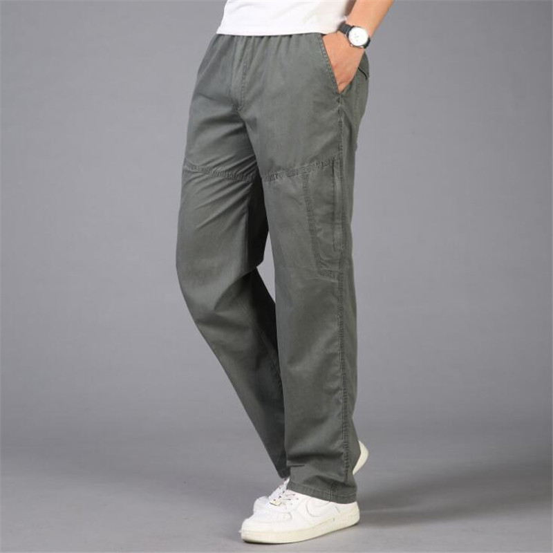 1d2fc688c20 Plus Size 6XL Summer Men Pants Lightweight Cotton Tactical Cargo Pants  Joggers Loose Casual Baggy Combat