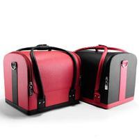 السفر حامل حالة ماكياج الكتف حزام برو ماكياج الفنان تصميم بو الجلود حقيبة ماكياج السفر المكياج حاويات أنيقة