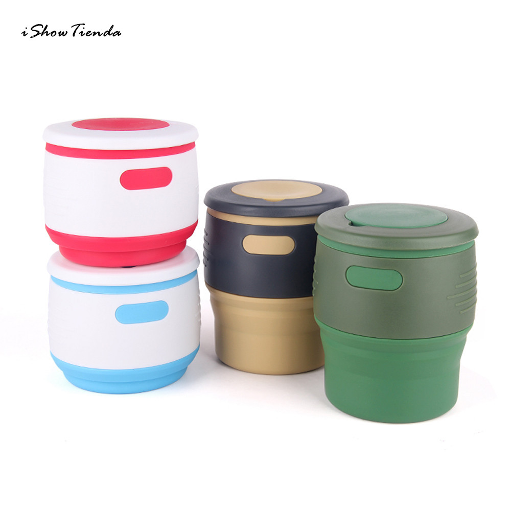 New Arrival 2018  350ML Two-In-One Storage Silicone Retractable Folding Coffee Cup Travel Kitchen Accessories Kitchen Tools Кубок
