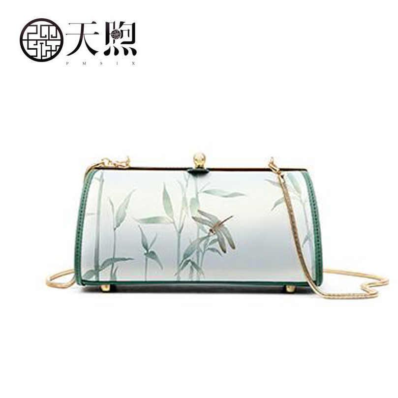 PMSIX 2020 جديد جودة جلد النساء حقيبة الماركات الشهيرة موضة الأصلي طباعة الفن حقائب النساء حقائب اليد حقيبة كتف