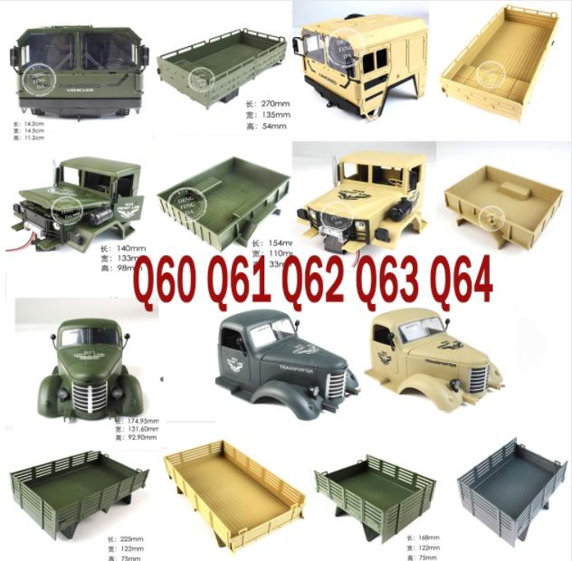 <font><b>JJRC</b></font> Q60 <font><b>Q61</b></font> Q62 Q63 Q64 RC Military Truck 4WD 6WD RC Car spare <font><b>parts</b></font> Car barn Warehouse car Head image