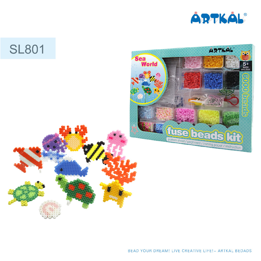 6000 pcs Artkal Beads Pixel Arts Kits Set Diy Cartoon Funny Toys Christmas Gift Handmade Jewerly Set Handmade materials package artkal mini beads 36 color box set funny food grade eva educational toys diy hama beads handmade gift cc36 page 2