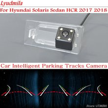LYUDMILA Car Intelligent Parking Tracks Camera FOR Hyundai Solaris Sedan HCR 2017 2018 / HD CCD Back up Reverse Rear View Camera