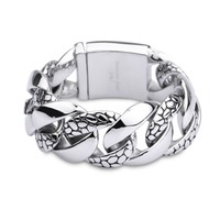 Fashion Cool Heavy Snake Skin Bracelet Biker For Man 316 Stainless Steel Hot Popular Polishing Bracelet Jewelry Accessories