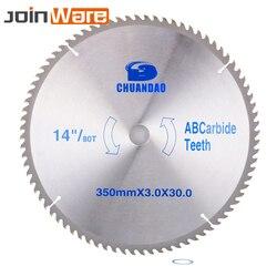 14 pulgadas hoja de sierra Circular aleación de carburo cortador de cuchillas TCT hoja para corte de madera herramienta para trabajar la madera 350x30x3,0 MM/40/60/80/100/120 T