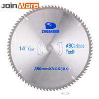14inch Circular Saw Blade Carbide Alloy Cutter Blade TCT Blade for Wood Cutting Woodworking Tool 350x30x3.0MM 40/60/80/100/120T