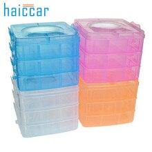 My House 15*15*12.5cm Clear Plastic Craft Beads Jewellery Storage Organizer Tool Box Case,jul 19