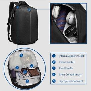 Image 5 - OZUKO Mochila antirrobo para ordenador portátil para hombre, resistente al agua morral escolar, con carga USB, para viaje, para adolescentes, 15,6