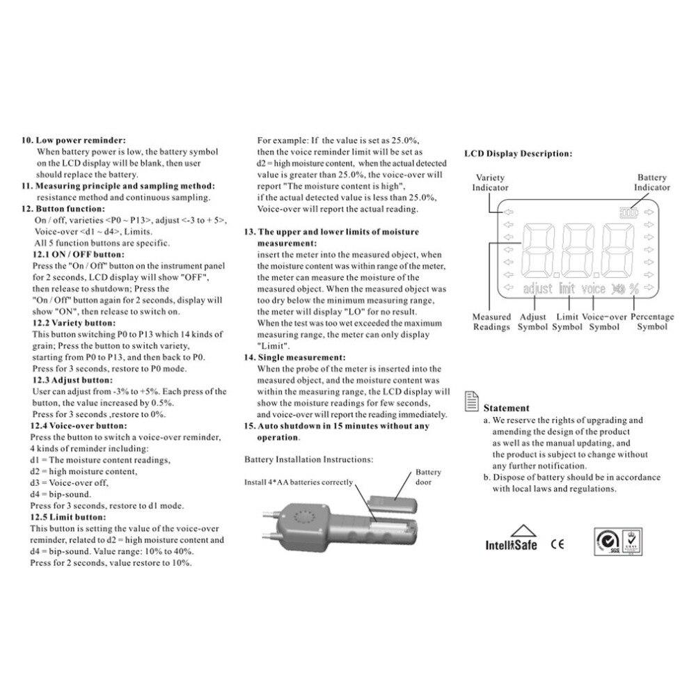 Digitale Getreide Feuchtigkeit Meter Hygrometer Verwenden Für Mais Weizen Reis Bean Erdnuss Korn Messung Feuchtigkeit Feuchtigkeit Tester Ar991 Werkzeuge