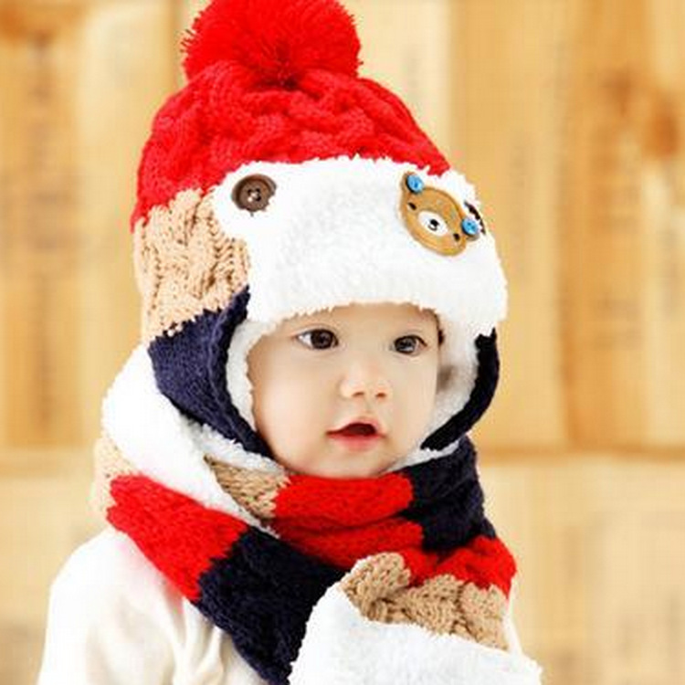 6-48M Wool Modis invierno kids hat Casquette enfant Baby beanie winter girl clothes Unisex Fur hats