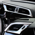 CHROME DASHBOARD AIR VENT CENTER CONSOLE TRIM COVER BEZEL GARNISH FRONT OUTLET INSERT FRAME 3PCS FIT FOR 2016 2017 HONDA CIVIC