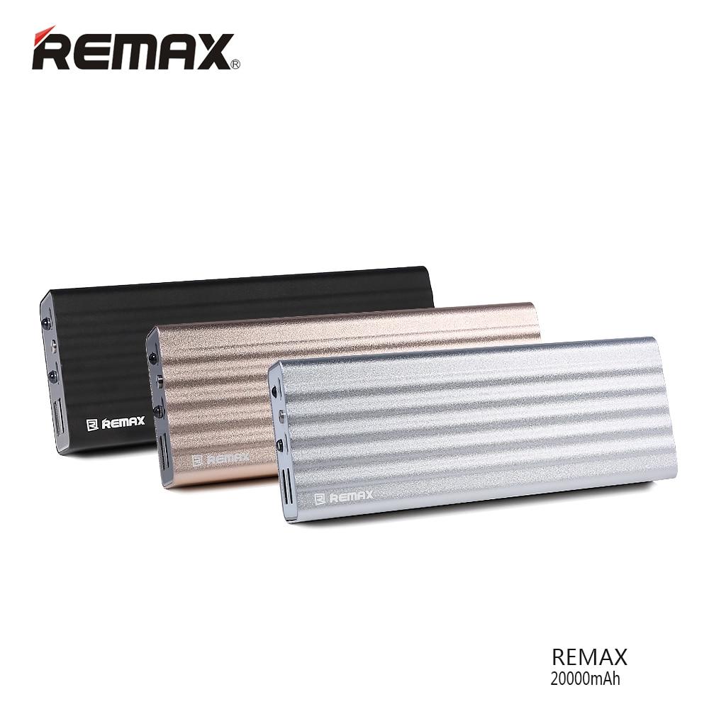 imágenes para Original Remax 20000 mAh Power Bank Cargador Portátil de Doble Salida USB de Reserva Externa para Xiaomi para el iphone para Huawei Poverbank