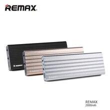 Оригинал REMAX 20000 мАч Мощность банк Портативный Dual USB Выход внешнего резервного Зарядное устройство для Xiaomi для Iphone для Huawei повербанк