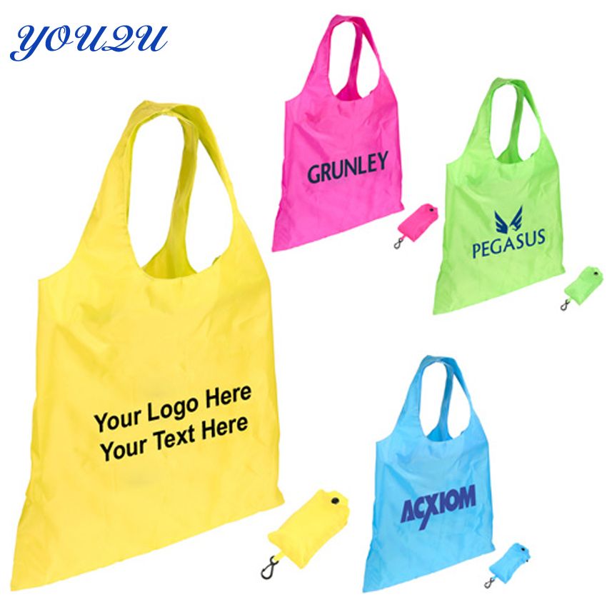 777d672660 Promotion tote bag foldable polyester shopping bag OWN LOGO PRINTING LOWEST  PRICE escrow accpeted-in Shopping Bags from Luggage   Bags on  Aliexpress.com ...