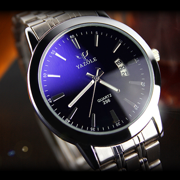 YAZOLE Luxury Brand Full Stainless Steel Analog Display Date Men's Quartz Watch Business Watch Men Watch Relogio masculino skmei luxury brand stainless steel strap analog display date moon phase men s quartz watch casual watch waterproof men watches