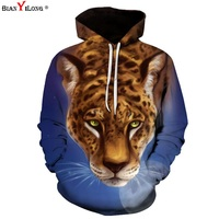 BIANYILONG Leopard Panther Printed 3D Hoodies Sweatshirts Men Women Pullover Autumn Animal Hooded Jackets Brand Tracksuits