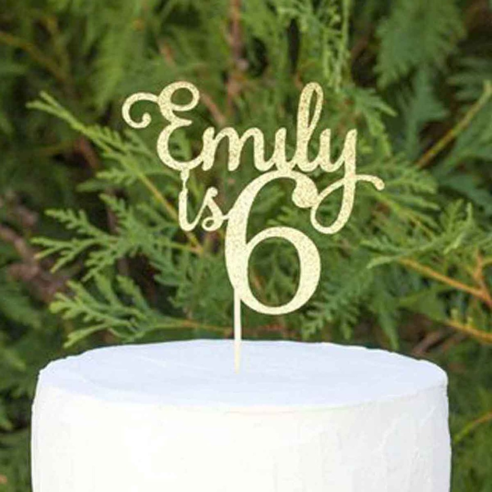 Custom Name Number Happy Birthday Cake Topper Personalized Gifts Childrens Birthday Glitter Wood Cake Topper Party Decorations Custom Name Number Happy Birthday Cake Topper Personalized Gifts Childrens Birthday Glitter Wood Cake Topper Party Decorations