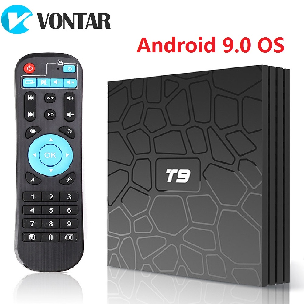 VONTAR T9 Android TV Box Android 9.0 4GB 32GB 64GB Smart TV Rockchip 1080P H.265 4K GooglePlay 2GB 16GB Media Player PK H96 Max