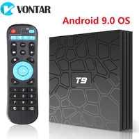 VONTAR T9 Android TV Box Android 9.0 4GB 32GB 64GB Smart TV Rockchip 1080P H.265 4K GooglePlay 2GB 16GB media player PK H96 max