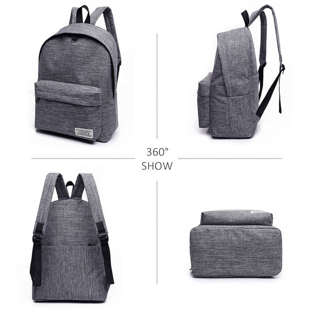Scione Korean Simple Canvas Backpack Male/Female School Laptop Backpack for Teenagers Travel Bagpack Stachels Rucksack Mochila