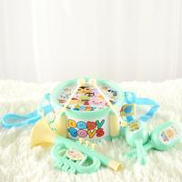 лидер продаж 4 шт. детские игрушки инструменты комплект барабаны малый песок молотки рог наборы раннего образования детские игрушк