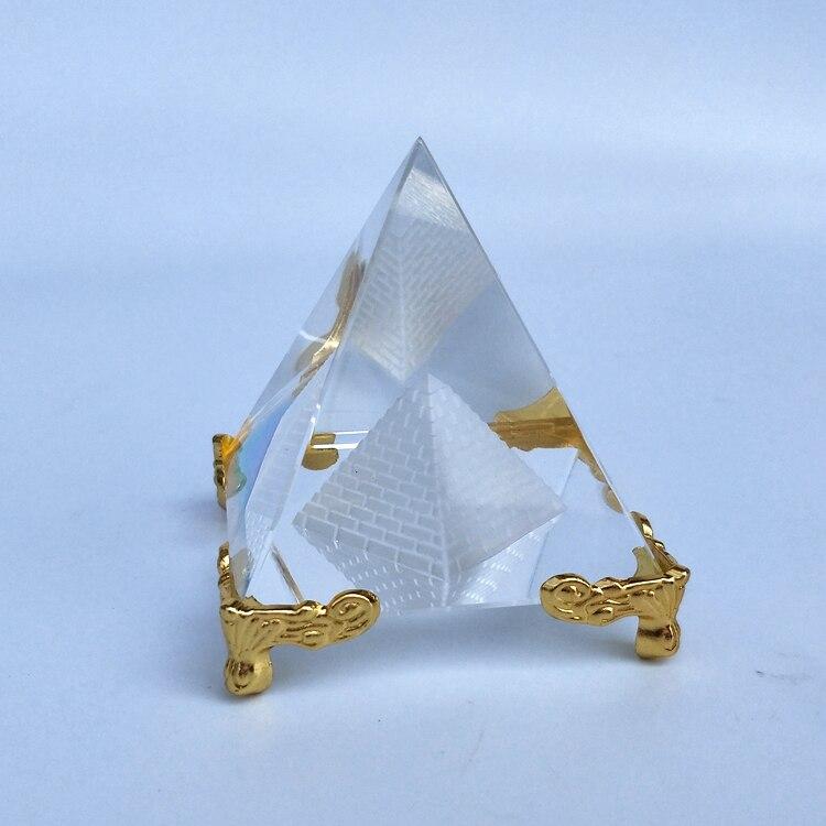 >Hot Sale Energy Healing Small Feng Shui Egypt Egyptian Crystal Clear Pyramid <font><b>Ornament</b></font> <font><b>Home</b></font> Decor Living Room <font><b>Decoration</b></font>