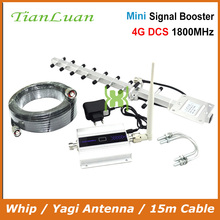 TianLuan 4G LTE DCS 1800MHz Moblie Phone Booster GSM 1800 Signal Repeater Cellular Cell Phone Amplifier 4G Network 60dB Gain