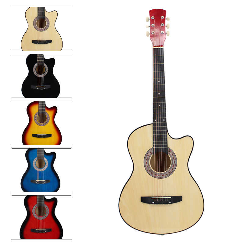 Classic Acoustic 6 Strings Basswood Guitar Beginner Adult Kid 4 Colours