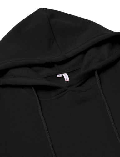 Alta qualidade 2019 nova venda quente moda feminina estilo casual com capuz hoodie manga longa camisola bolso bodycon túnica vestido topo