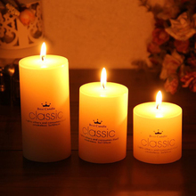 Smokeless Classical and Romantic Ivory White Candles