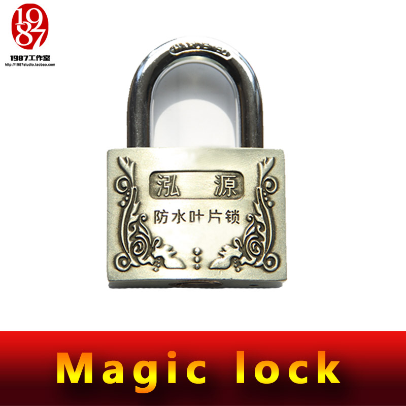 Takagism game prop, real life room escape props jxkj-1987 magic lock do not need keys to open this magic lock strange keys magic props antique silver