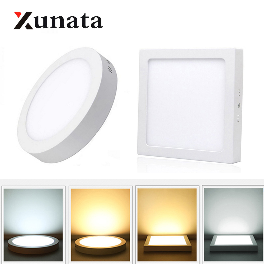 Surface Mounted Led Panel Light 6W 12W 18W 24W Round Square Spotlights Lamp Indoor Led Ceiling Light LED Lighting For Home Decor