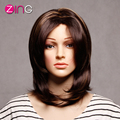 China Rosa Hair Medium Long Mixed Color Synthetic Wigs For Women Cosplay Wig Perucas Sintetico Perruque Synthetic Women Cosplay
