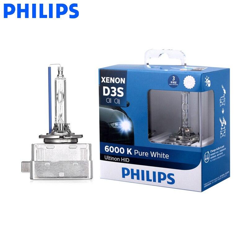 Philips D3S 42403WX 35W Ultinon HID 6000K Cool Blue Xenon White Light Car Upgrade Headlight Bulbs