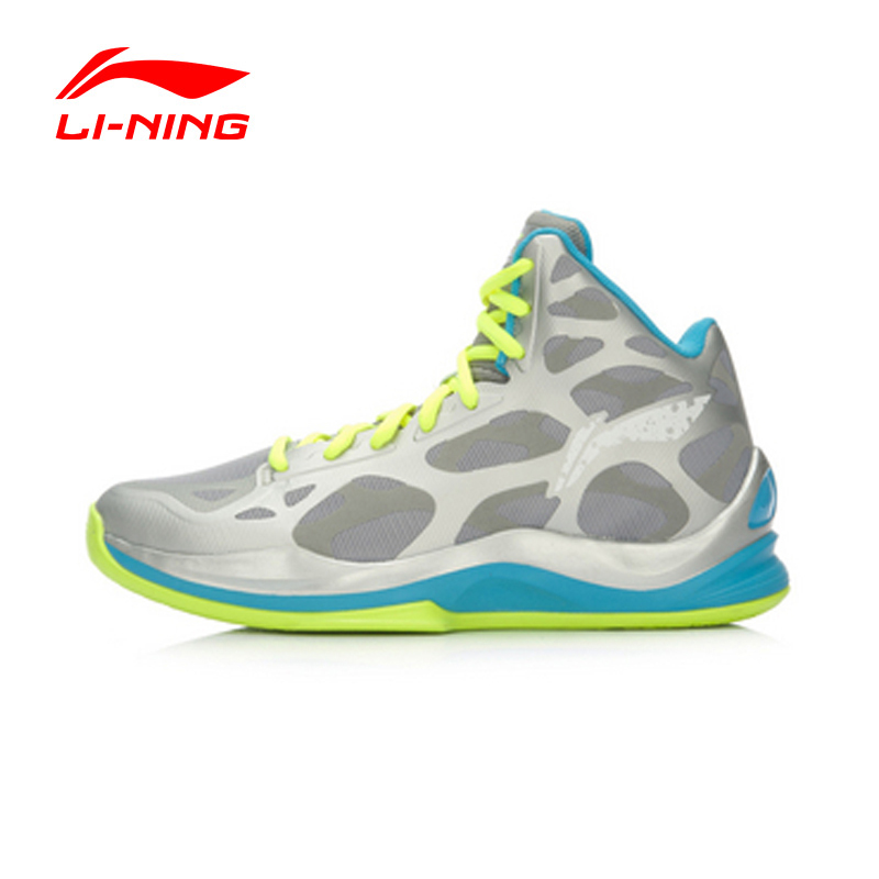 LI-NING Men Basketball Shoes Bounse+ Technology Damping Cushioning Lace-Up Sneakers Sport Shoes ABAL031 XYL064