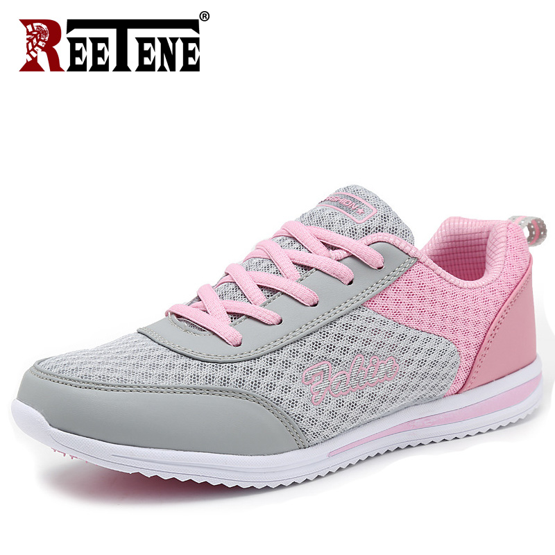 REETENE 2019 Fashion Women Sneakers Breathable Air Mesh Shoes For Women Summer O