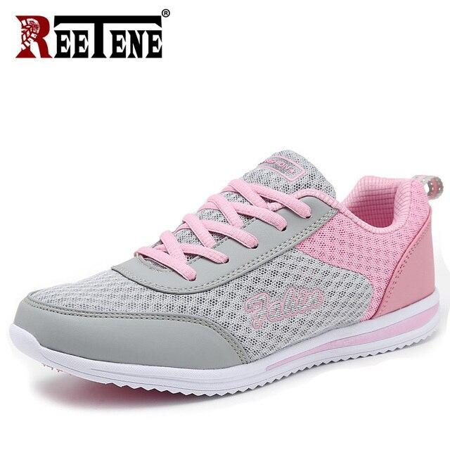 REETENE 2019 Mode Vrouwen Sneakers Ademend Air Mesh Schoenen Voor Vrouwen Zomer Outdoor Vrouwelijke Flats Mode Damesschoenen
