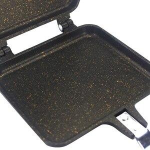 Image 5 - Forma do kanapek 34.5*15cm Pan dwustronnie Grill patelnia naczynia podwójna twarz Pan stek patelnia Pancake outdoor przybory kuchenne