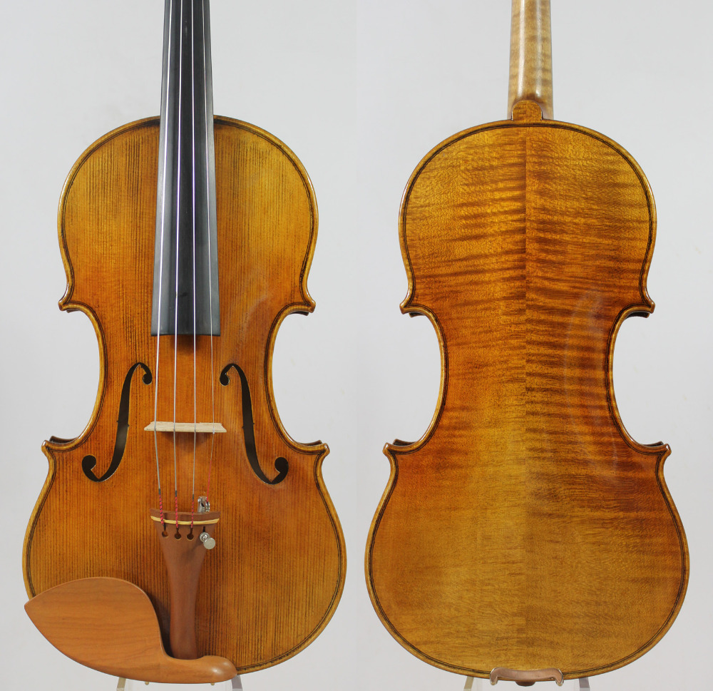 Special offer!!!Guarneri 1743 Cannon 4/4 Violin Powerful tone! All European Wood FREE SHIPING!Professional Sound!