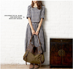 Spring 2015 new models women girls college wind retro loose cotton long sleeved plaid font b.jpg 250x250