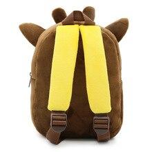 Lovely Giraffe Shaped Plush Cotton Toddler's Backpack